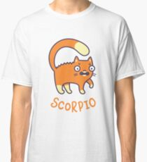 Funny Scorpio Cat Horoscope Tshirt - Astrology and Zodiac Gift Ideas! Classic T-Shirt