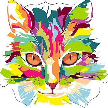 Colorful Cat by 205Croissants