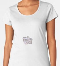 Pastel Camera Sticker Women's Premium T-Shirt