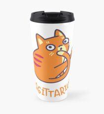 Funny Sagittarius Cat Horoscope Tshirt - Astrology and Zodiac Gift Ideas! Travel Mug