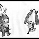 The Underworld - Geb and Osiris by AxelAlloy