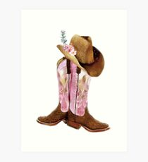 Cowgirl boots Art Print