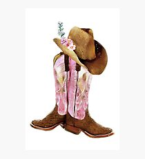 Cowgirl boots Photographic Print