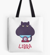 Funny Libra Cat Horoscope Tshirt - Astrology and Zodiac Gift Ideas! Tote Bag