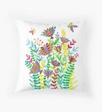 Floral Fish Throw Pillow
