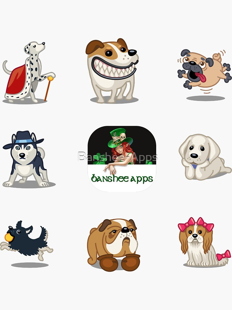 Funny Dog Sticker Pack Collection Part 1 by Banshee-Apps