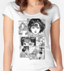junji ito spiral  Women's Fitted Scoop T-Shirt