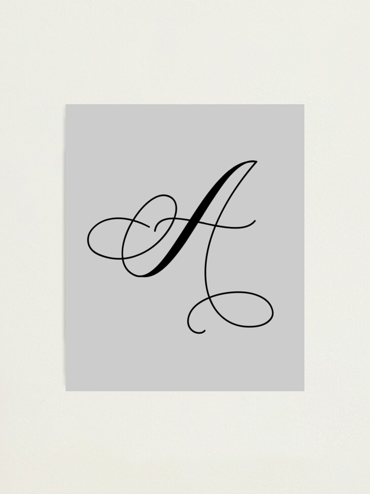 Capital S In Cursive Calligraphy - Letter