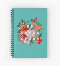 """Cuaderno de espiral """"Se valiente""""! Diseño no. 4"""