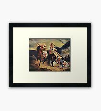 The Combat of the Giaour and Hassan 1826 Eugène Delacroix Framed Print