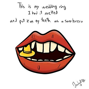 Sombrero wedding teeth - Digital illustration by isabelrb