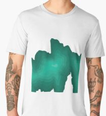 Mount Mitchell Topography Graphic Men's Premium T-Shirt