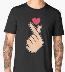 K Pop Love Heart Hand Sign Men's Premium T-Shirt
