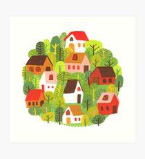 Forest Village Art Print