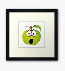 Funny Apple Framed Print