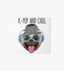 K-Pop And Chill Kawaii Dog Art Board