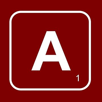 Tile Game Letter A  by AKandCo