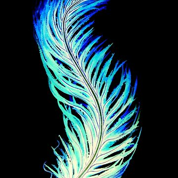 Blue Feather by LindArt1