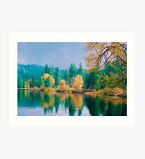 Autumn on the Pond Art Print