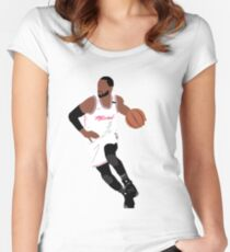 Dwyane Wade Women's Fitted Scoop T-Shirt