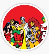 new teen titans Sticker