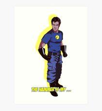 Captain Hammer  Art Print