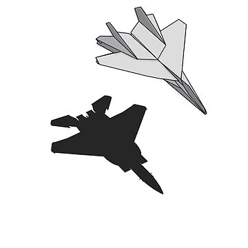 Paper Plane Fighter Jet Shadow T-Shirt by kprojekt