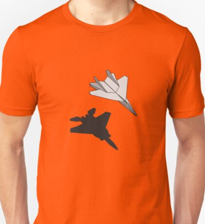 Paper Plane Fighter Jet Shadow T-Shirt T-Shirt