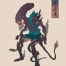 Alien (Japanese monster style) by TurkeysDesign