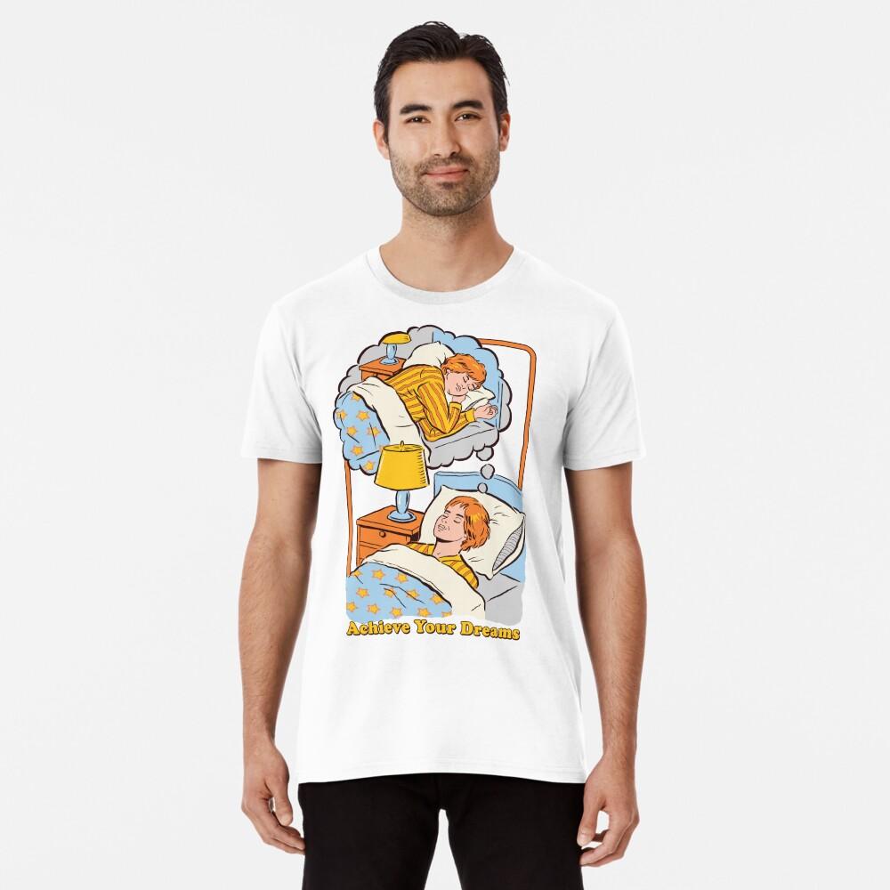 Erreiche deine Träume Männer Premium T-Shirt Vorne
