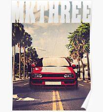 Golf 3 MK3 & quot; Palm Beach & quot; Poster