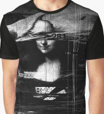 Mona Lisa Glitch Graphic T-Shirt