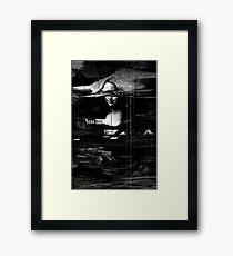 Mona Lisa Glitch Framed Print