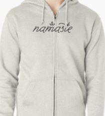 Namaste grey Zipped Hoodie