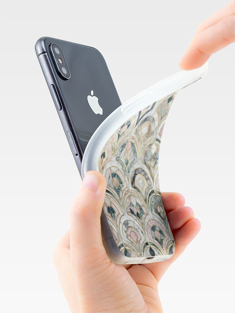 Alternate view of Art Deco Marble Tiles in Soft Pastels iPhone Case & Cover