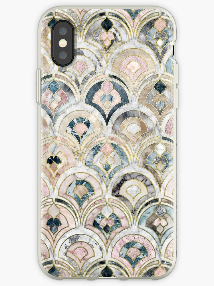 Art Deco Marble Tiles in Soft Pastels by micklyn