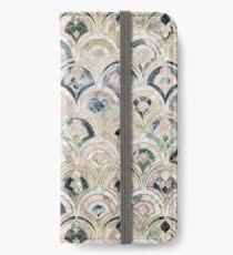 Art Deco Marmorfliesen in weichen Pastellfarben iPhone Flip-Case/Hülle/Klebefolie