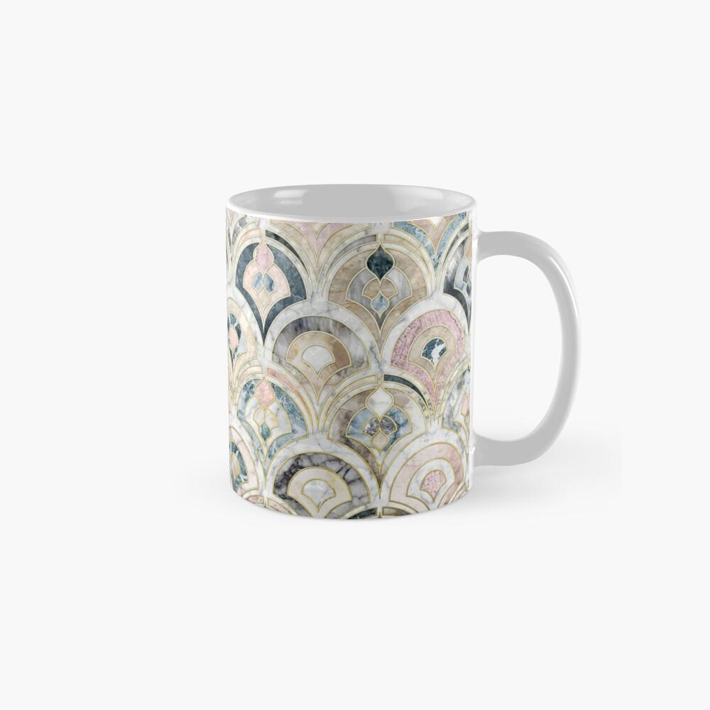 Art Deco Marmorfliesen in weichen Pastellfarben Tasse (Standard)
