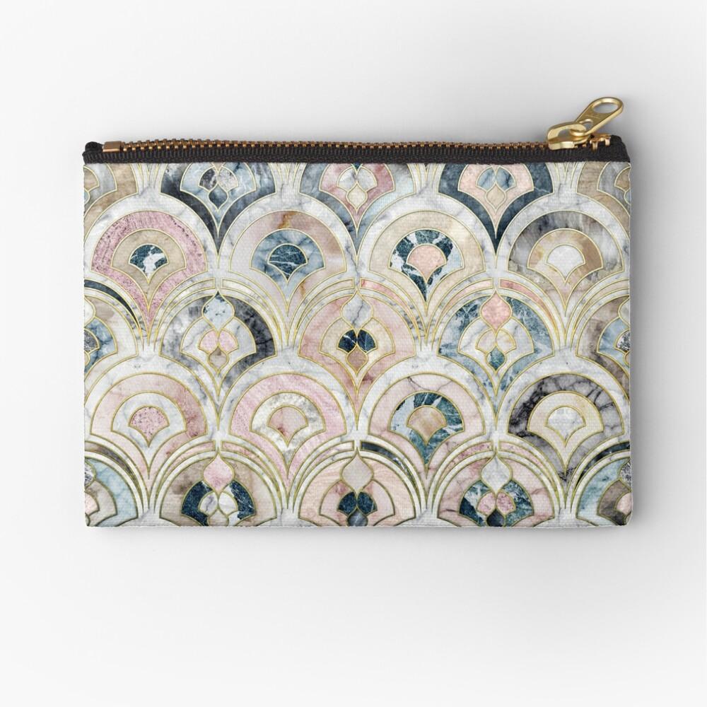 Art Deco Marmorfliesen in weichen Pastellfarben Täschchen