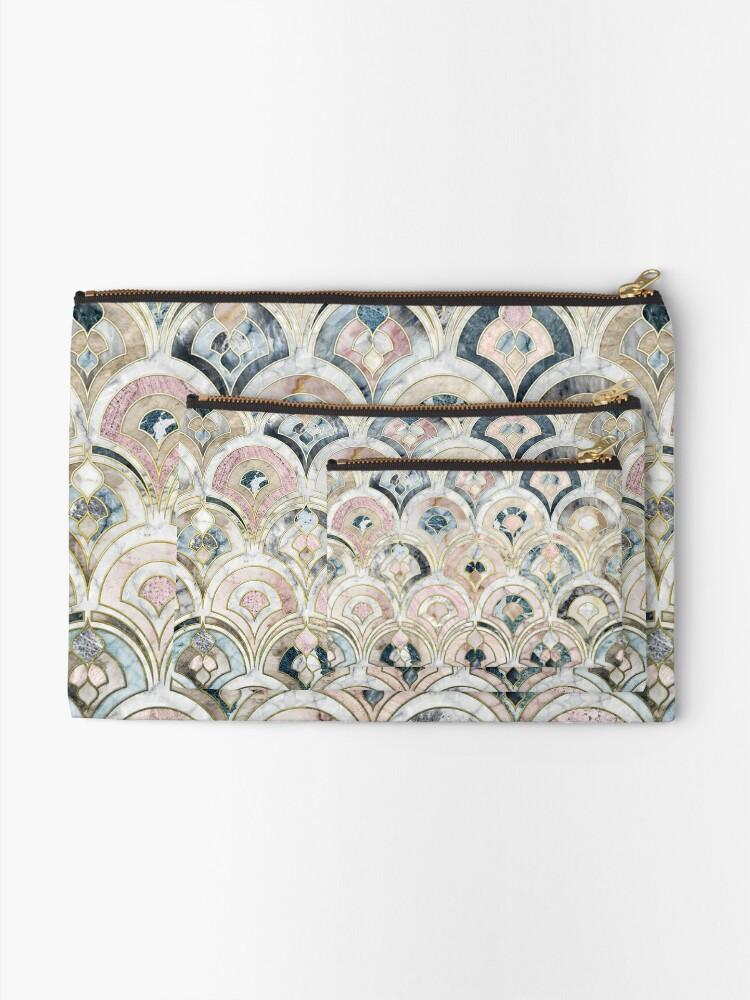 Alternative Ansicht von Art Deco Marmorfliesen in weichen Pastellfarben Täschchen