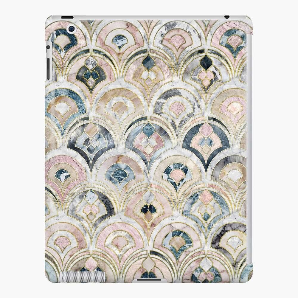 Art Deco Marble Tiles in Soft Pastels iPad Case & Skin