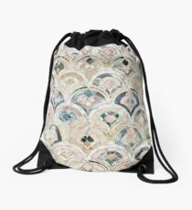 Art Deco Marble Tiles in Soft Pastels Drawstring Bag