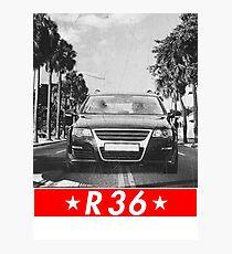 Passat B6 R36 & quot; Redstriped & quot; Photographic Print