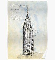 Crysler Building, New York USA Poster