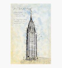 Crysler Building, New York USA Photographic Print