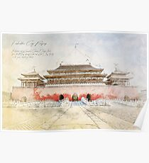 Forbidden City, Beijing China Poster