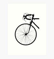 Crescent Bike Black Art Print