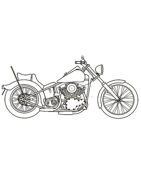 Harley Strichzeichnung\