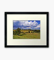 Yellow Prairie In Storm Framed Print