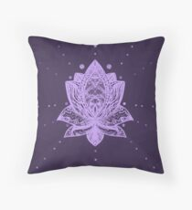 Gentle Pastel Violet Lotus Flower Floor Pillow